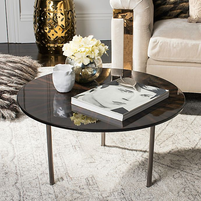 Safavieh Couture Ninibel End Table and Coffee Table Collection in  Black/Brown