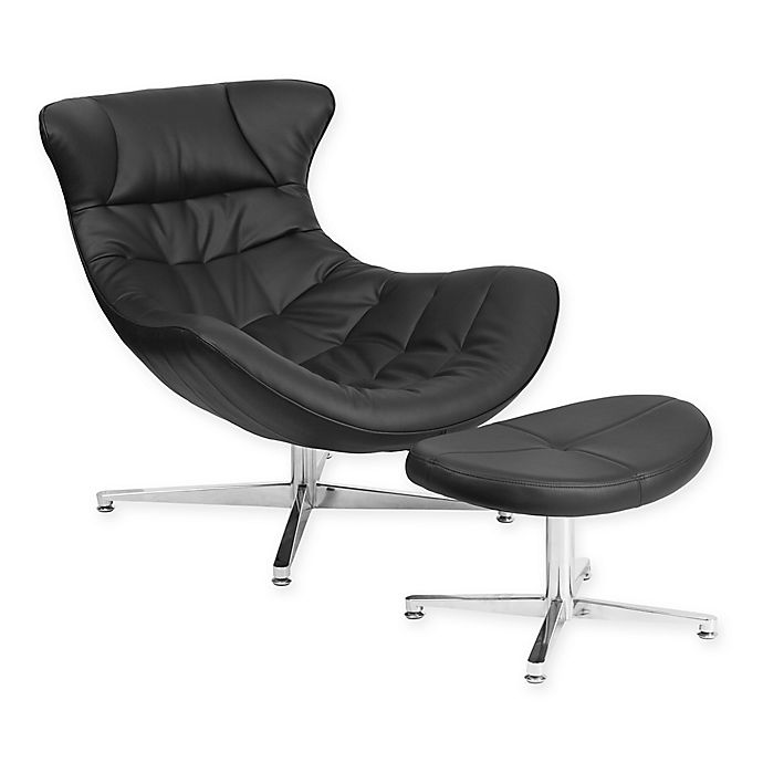 Prime Flash Furniture Faux Leather Cocoon Chair With Ottoman Bed Beatyapartments Chair Design Images Beatyapartmentscom