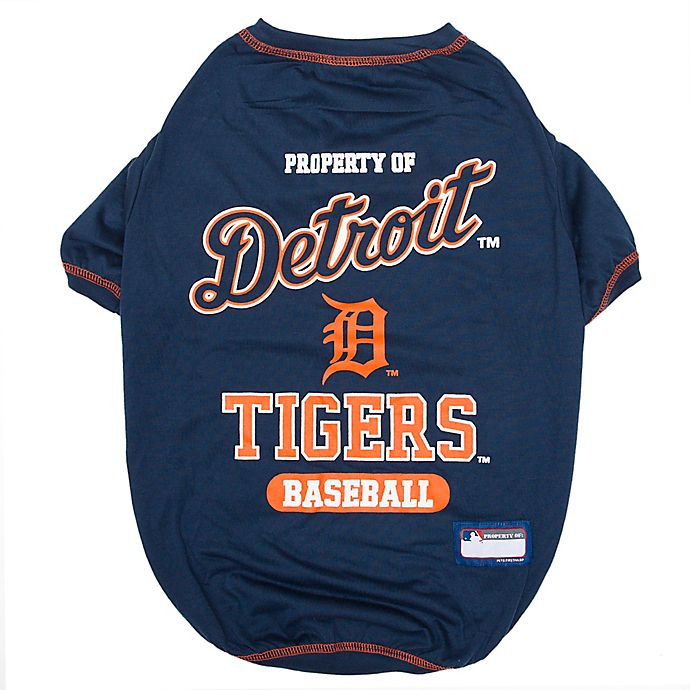 Alternate image 1 for MLB X-Small Detroit Tigers Dog T-Shirt