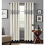 Colordrift Jade 63-Inch Room Darkening Grommet Top Window Curtain Panel in Platinum