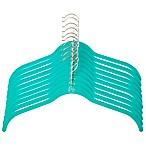Joy Mangano Huggable Hangers® 10-Piece Shirt Hangers in Teal