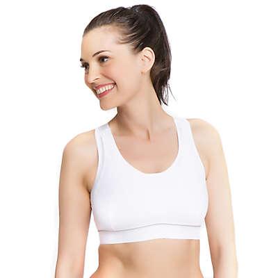La Leche League Intimates Nursing Sports Bra in White
