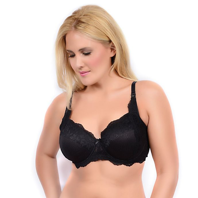 149f64c3c77 La Leche League Intimates Faith Full Coverage Lace Nursing Bra in Black