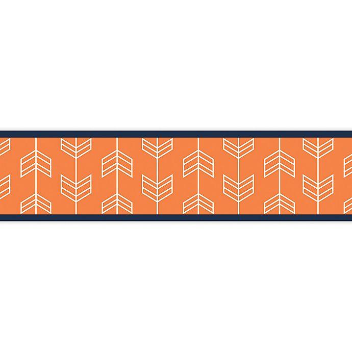 Alternate image 1 for Sweet Jojo Designs Arrow Wallpaper Border in Orange/Navy