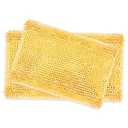 Laura Ashley® Butter Chenille Bath Rugs in Yellow (Set of 2)