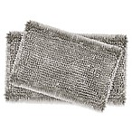 Laura Ashley® Butter Chenille Bath Rugs in Light Grey (Set of 2)