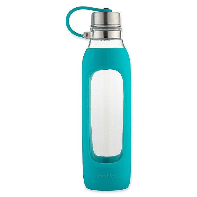 Alternate image 1 for Contigo® Purity 20 oz. Glass Water Bottle with Tethered Lid