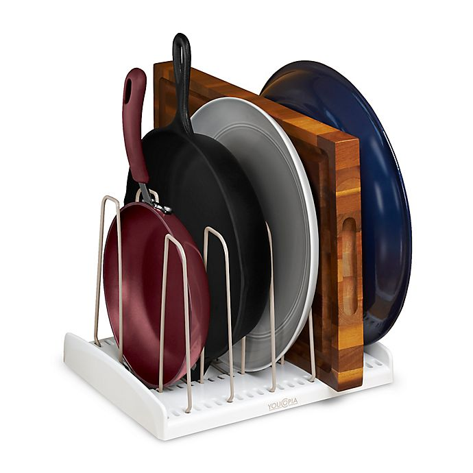 Alternate image 1 for YouCopia® StoreMore™ Adjustable Cookware Rack