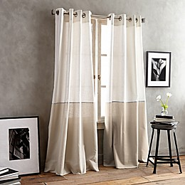 DKNY Color Band Grommet Top Window Curtain Panel