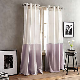 DKNY Color Band 108-Inch Grommet Top Window Curtain Panel in Lilac