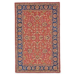 Feizy Abbey Alexandra Area Rug in Red/Navy
