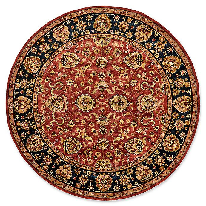 Alternate image 1 for Feizy Abbey Alexandra 8-Foot Round Area Rug in Red/Navy