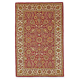 Feizy Abbey Rug in Cranberry/Ivory