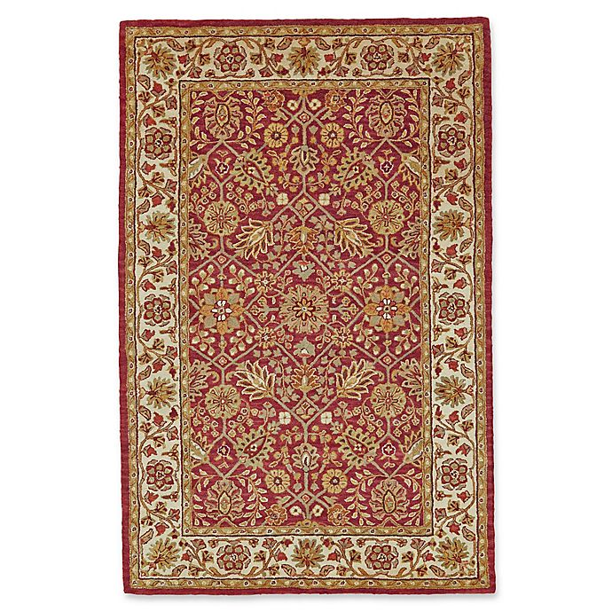 Alternate image 1 for Feizy Abbey 8-Foot x 11-Foot Area Rug in Cranberry/Ivory