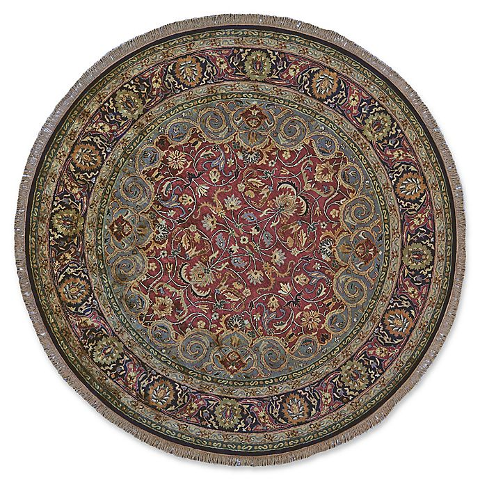 Alternate image 1 for Feizy Alegra 8-Foot Round Area Rug in Plum