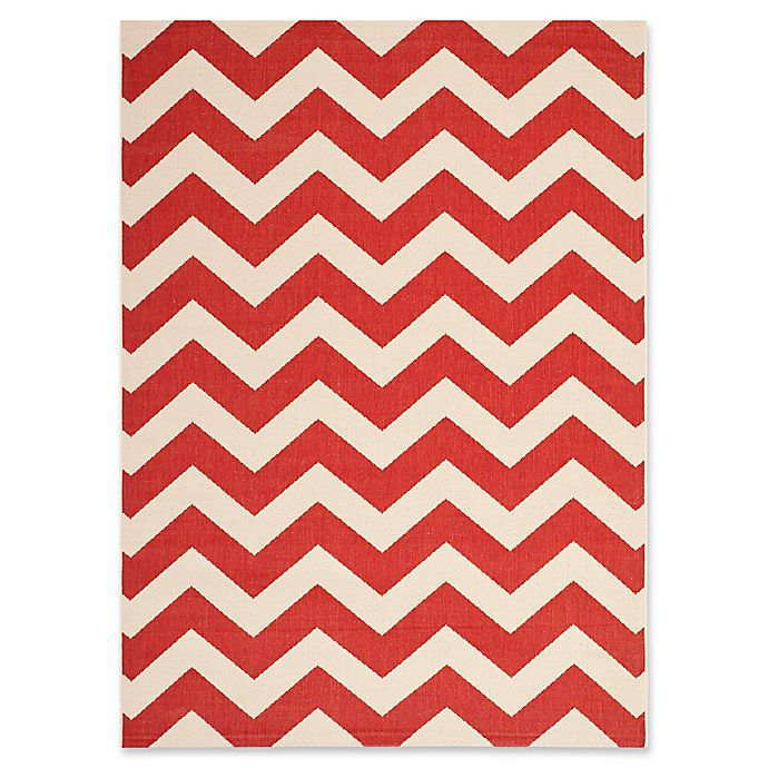 Alternate image 1 for Safavieh Courtyard Thick Chevron Indoor/Outdoor Rug