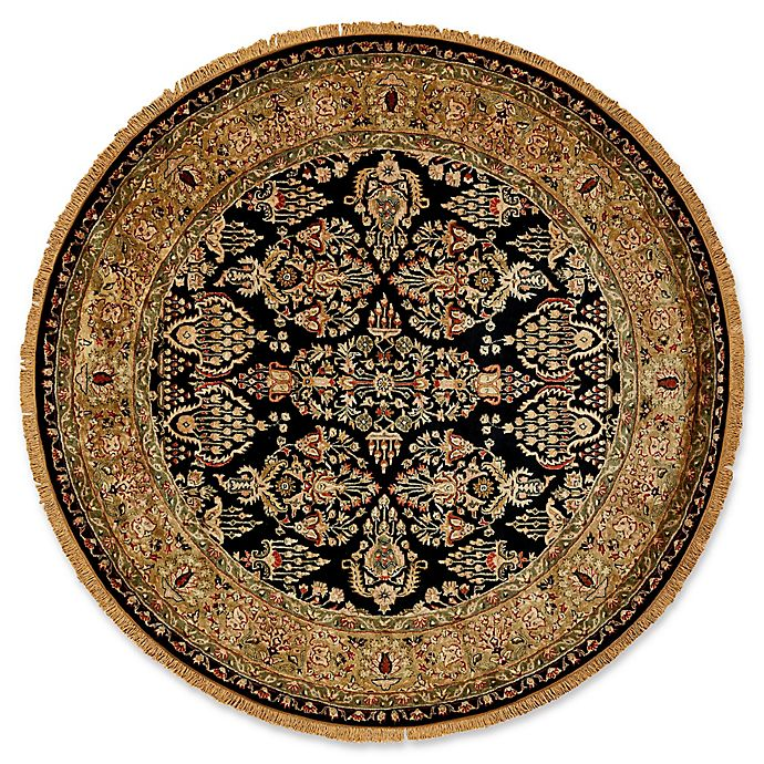 Alternate image 1 for Feizy Alegra 8-Foot Round Area Rug in Black