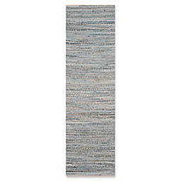 Safavieh Cape Cod Zigzag 2-Foot 3-Inch x 14-Foot Runner in Natural/Blue