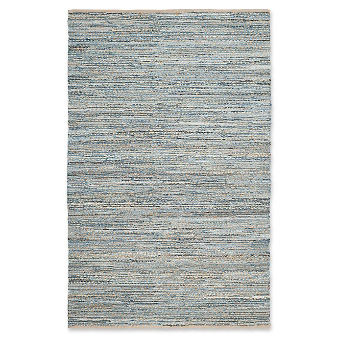 Alternate image 1 for Safavieh Cape Cod Zigzag Rug in Natural/Blue