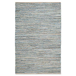 Safavieh Cape Cod Zigzag Rug in Natural/Blue