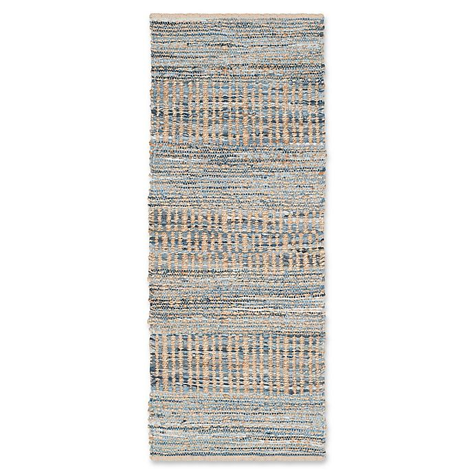 Alternate image 1 for Safavieh Cape Cod Tribal 2-Foot 3-Inch x 10-Foot Runner in Natural/Blue