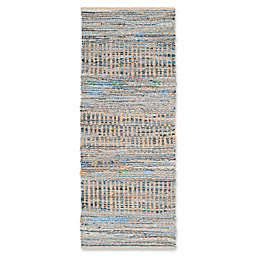 Safavieh Cape Cod Tribal 2-Foot 3-Inch x 10-Foot Runner in Natural/Blue