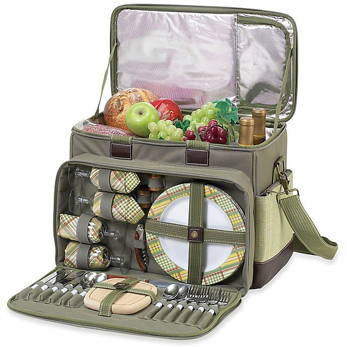 Alternate image 1 for Picnic At Ascot Ultimate Picnic Cooler for 4 in Olive