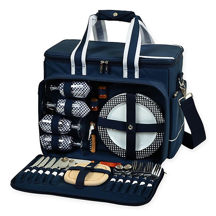 Alternate image 1 for Picnic At Ascot Ultimate Picnic Cooler for 4 in Navy