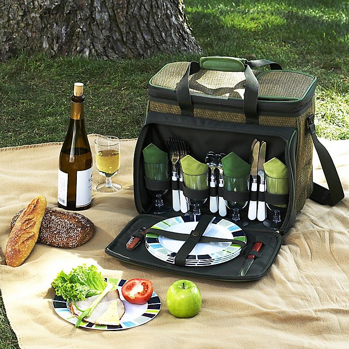 Alternate image 1 for Picnic at Ascot Deluxe Picnic Cooler for 4