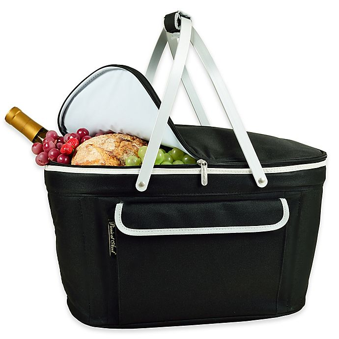 Alternate image 1 for Picnic at Ascot Insulated Market Basket in Black