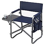 Picnic at Ascot Outdoor Deluxe Sports Chair with Side Table in Navy