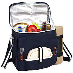 Picnic at Ascot Wine and Cheese Picnic Basket/Cooler with Blanket
