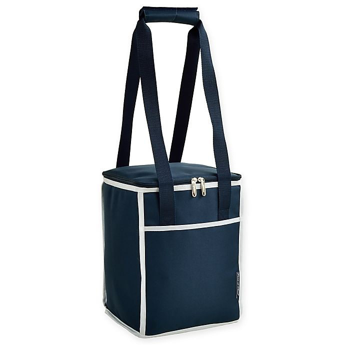 Alternate image 1 for Picnic at Ascot 24-Can Collapsible Cooler Tote in Navy