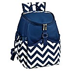 Picnic at Ascot Insulated Backpack Cooler in Blue Chevron