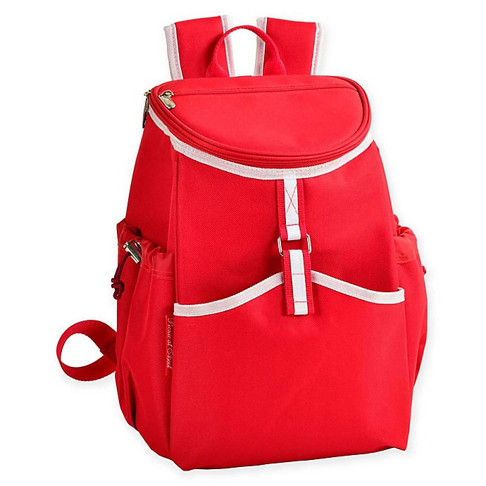 Alternate image 1 for Picnic at Ascot Insulated Backpack Cooler in Red