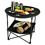 Picnic at Ascot Travel Folding Picnic Table in Black