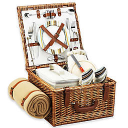 Picnic at Ascot Cheshire Picnic Basket For 2 with Blanket
