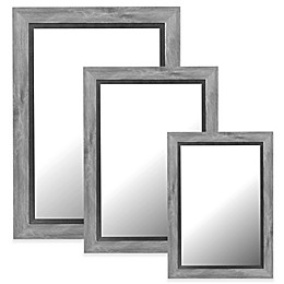 Hitchcock-Butterfield Coastal Weathered Mirror in Grey/Black