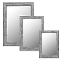 Hitchcock-Butterfield Coastal Weathered Wide Wall Mirror in Grey