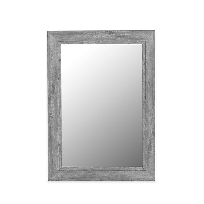 Alternate image 1 for Hitchcock-Butterfield 26-Inch x 62-Inch Coastal Weathered Wide Wall Mirror in Grey