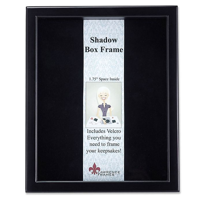 Alternate image 1 for Lawrence Frames 11-Inch x 14-Inch Wood Shadow Box Frame in Black