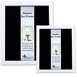 Lawrence Frames Wood Shadow Box Frame in White