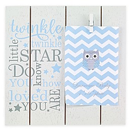 """Lawrence Frames """"Twinkle Twinkle Little Star"""" 4-Inch x 6-Inch Clip Picture Frame in Blue"""