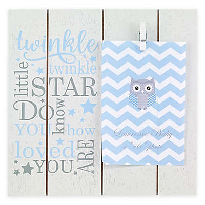 "Lawrence Frames ""Twinkle Twinkle Little Star"" 4-Inch x 6-Inch Clip Picture Frame in Blue"