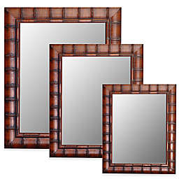 Hitchcock-Butterfield Fruitwood Bamboo Wall Mirror