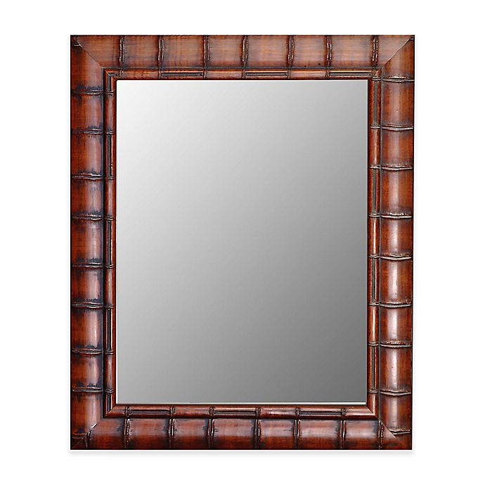 Alternate image 1 for Hitchcock-Butterfield 27-Inch x 37-Inch Fruitwood Bamboo Wall Mirror
