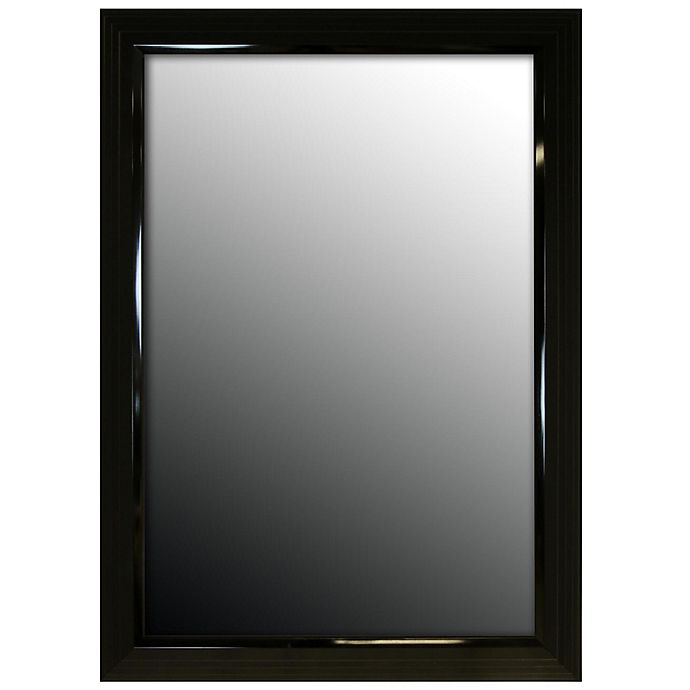 Alternate image 1 for Hitchcock-Butterfield 26-Inch x 36-Inch Stepped Petite Wall Mirror in Glossy Black