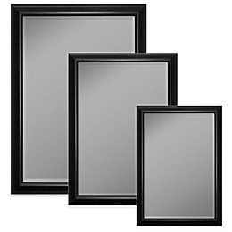 Hitchcock-Butterfield Wall Mirror in Glossy Silver/Smoke Black