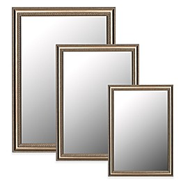 Hitchcock-Butterfield Grecian Beaded Wall Mirror in Brushed Silver
