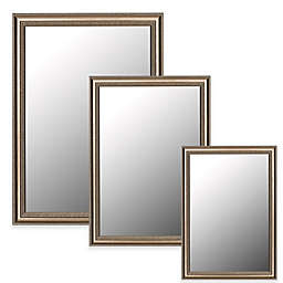 Hitchcock-Butterfield Grecian Beaded Wall Mirror in Brushed Gold